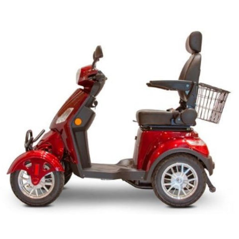 EWheels EW-46 Electric 4-Wheel Scooter Red Side View