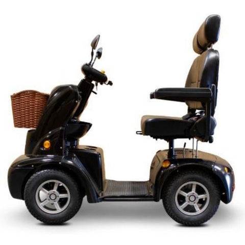 EWheels EW-88 Dual Seat Scooter Black Side View