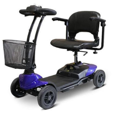 EWheels EW-M35 4-Wheel Mobility Scooter Blue Left View