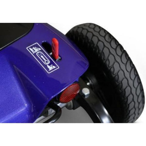 EWheels EW-M35 4-Wheel Mobility Scooter Rear Wheel View
