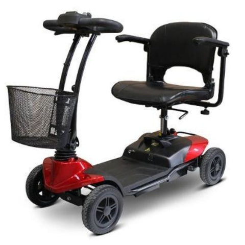 EWheels EW-M35 4-Wheel Mobility Scooter Red Left View