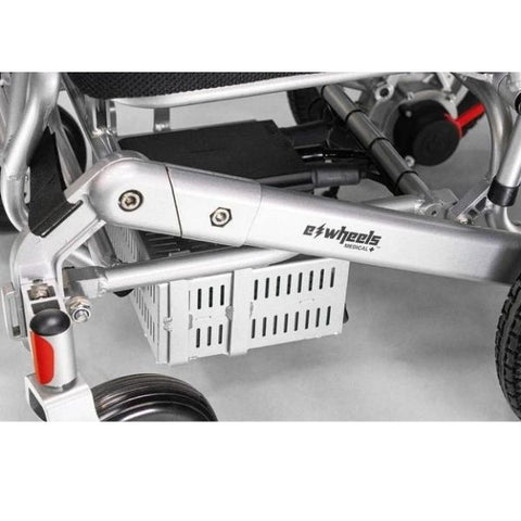 EWheels EW-M45 Folding Power Wheelchair Battery Box and CPU Controller View