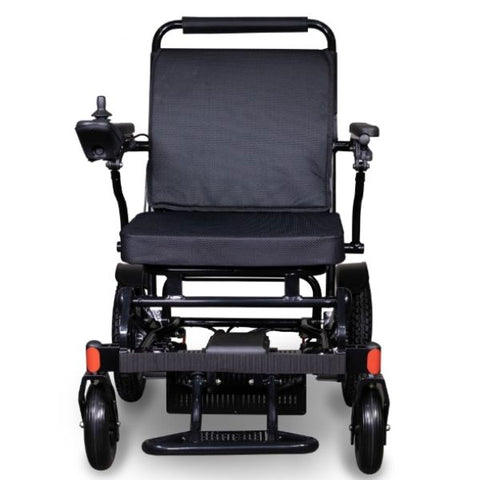 EWheels EW-M45 Folding Power Wheelchair Black Front View