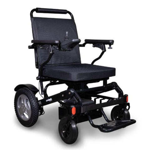 EWheels EW-M45 Folding Power Wheelchair Black Right View