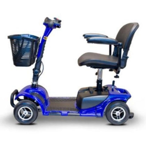 EWheels Medical EW-M34 Mobility Scooter Blue Left Side View