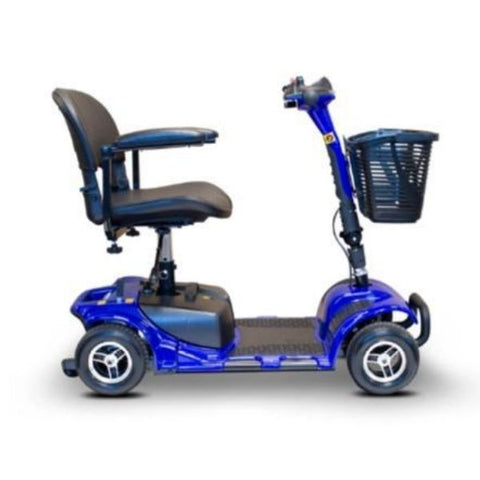 EWheels Medical EW-M34 Mobility Scooter Blue Side View