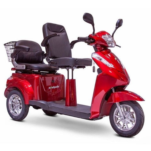 EWheels EW-66 2 Passenger 3-Wheel Scooter Left Front View