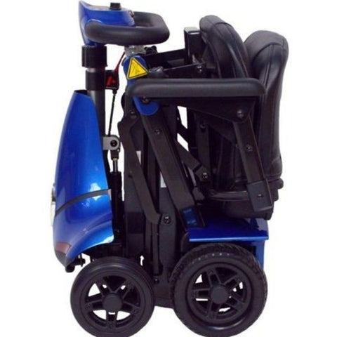 Enhance Mobility Mobie Plus 4 Wheel Scooter S2043 Blue Folding View
