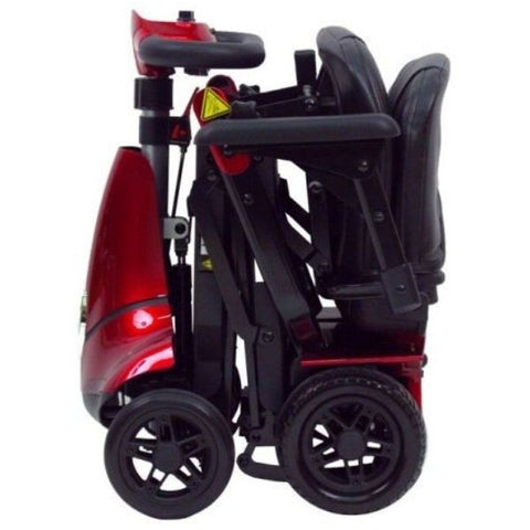 Enhance Mobility Mobie Plus 4 Wheel Scooter S2043 Red Folding View