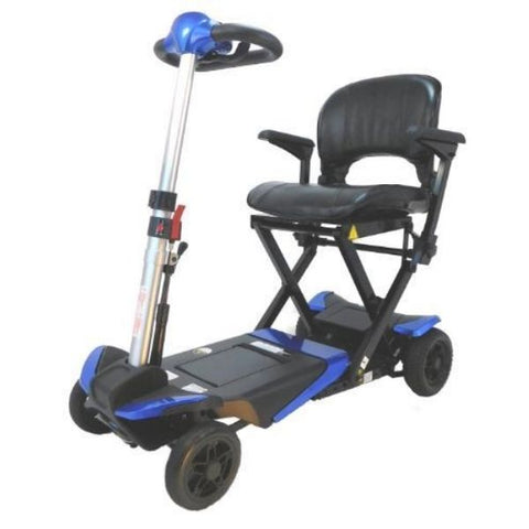 Enhance Mobility Transformer 4-Wheel Scooter S3021 Blue Left View