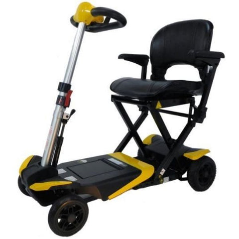 Enhance Mobility Transformer 4-Wheel Scooter S3021 Yellow Left View