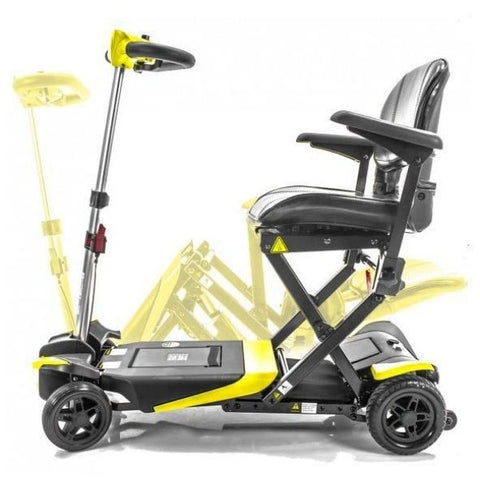 Enhance Mobility Transformer 4-Wheel Scooter S3021 Yellow Unfolding View