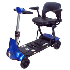Enhance Mobility Mobie Plus 4 Wheel Scooter S2043 Blue Front View