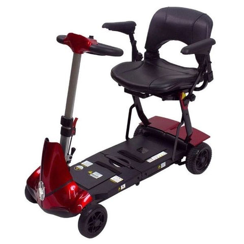 Enhance Mobility Mobie Plus 4 Wheel Scooter S2043 Red Front View