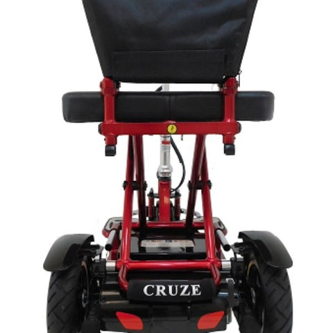 Enhance Mobility Triaxe Cruze Folding Mobility Scooter Back View
