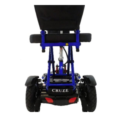 Enhance Mobility Triaxe Cruze Folding Mobility Scooter Blue Back View