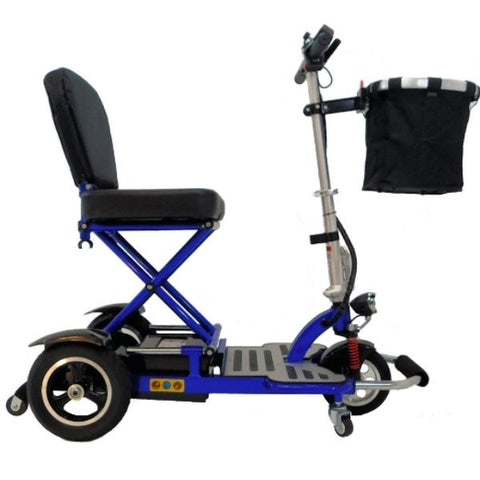 Enhance Mobility Triaxe Cruze Folding Mobility Scooter Blue Side View