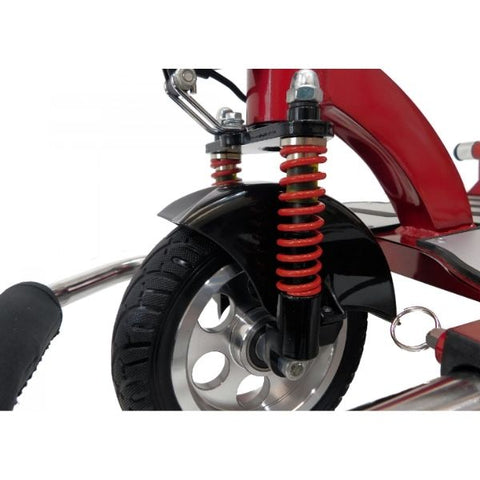 Enhance Mobility Triaxe Cruze Folding Mobility Scooter Front Wheel View