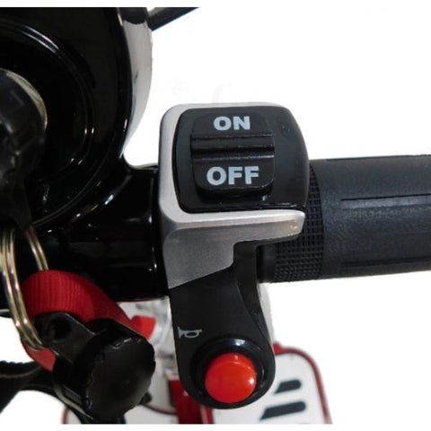 Enhance Mobility Triaxe Cruze Folding Mobility Scooter On Off Switch View