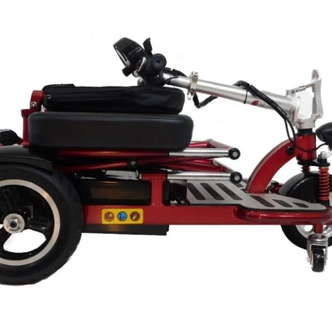 Enhance Mobility Triaxe Cruze Folding Mobility Scooter Red Folding View