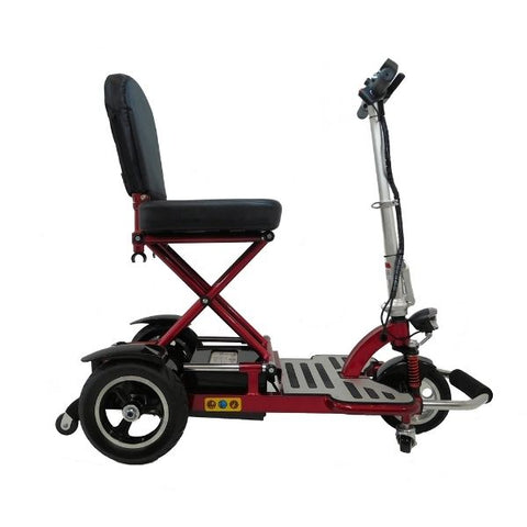 Enhance Mobility Triaxe Cruze Folding Mobility Scooter Red Side View
