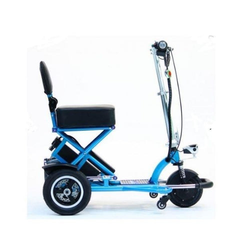 Enhance Mobility Triaxe Sport T3045 3 Wheel Scooter Blue Side View