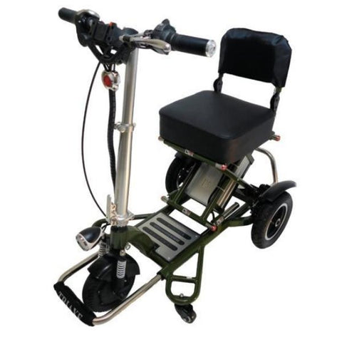 Enhance Mobility Triaxe Sport T3045 3 Wheel Scooter Green Front View