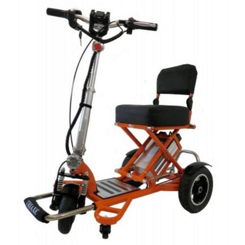 Enhance Mobility Triaxe Sport T3045 3 Wheel Scooter Orange Front View