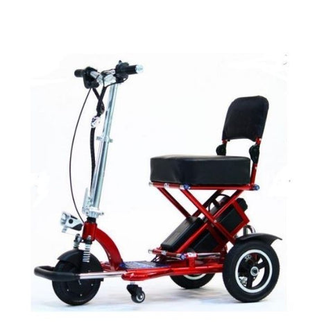 Enhance Mobility Triaxe Sport T3045 3 Wheel Scooter Red Left Side View