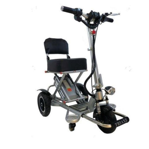 Enhance Mobility Triaxe Sport T3045 3 Wheel Scooter Silver Right Side View