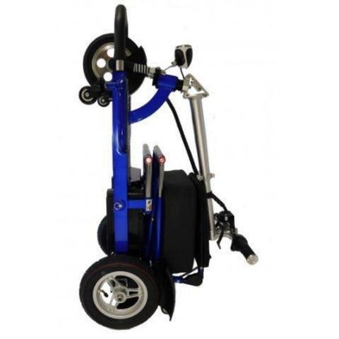 Enhance Mobility Triaxe Tour 3 Wheel Scooter T3050 Blue Folding View