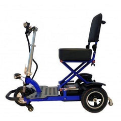 Enhance Mobility Triaxe Tour 3 Wheel Scooter T3050 Blue Side View
