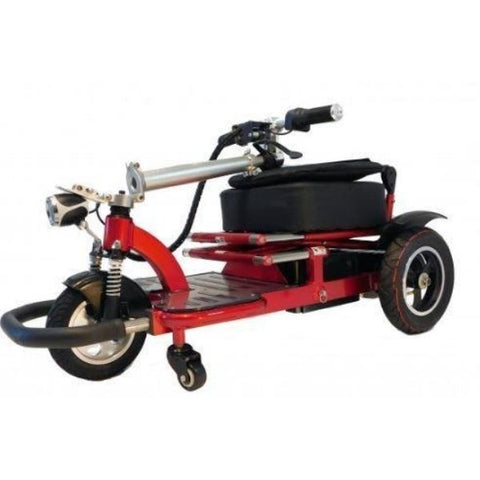 Enhance Mobility Triaxe Tour 3 Wheel Scooter T3050 Red Folding View