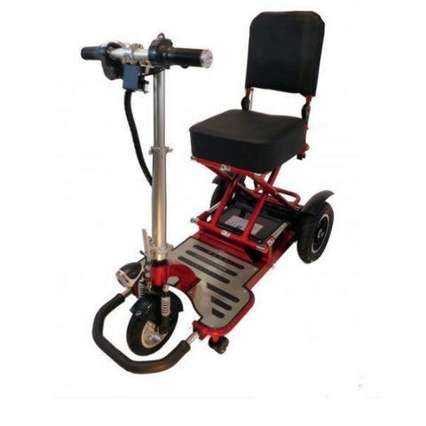 Enhance Mobility Triaxe Tour 3 Wheel Scooter T3050 Red Front View