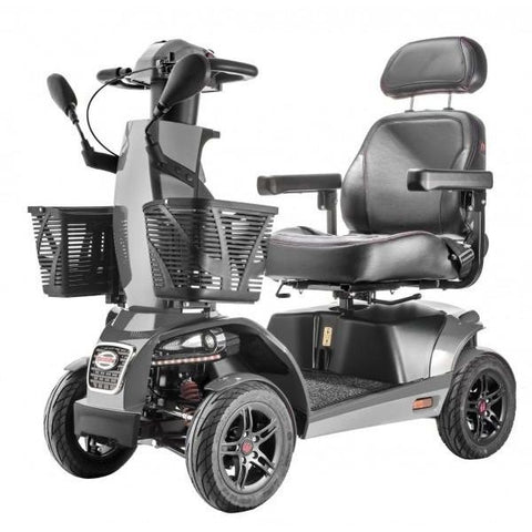 FreeRider USA FR1 4 Wheel Bariatric Mobility Scooter Grey Front View