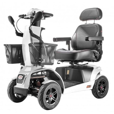 FreeRider USA FR1 4 Wheel Bariatric Mobility Scooter White Front View