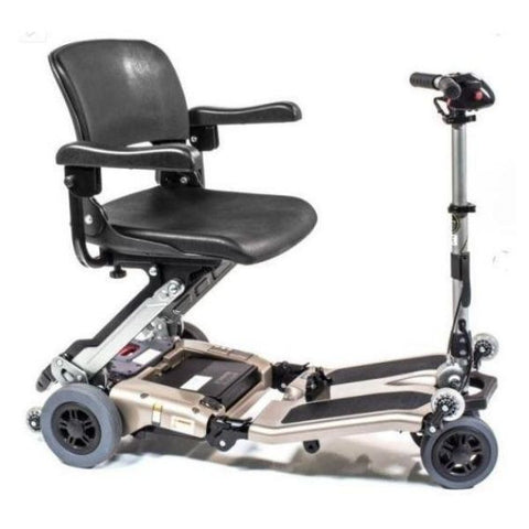 FreeRider USA Luggie Deluxe 4 Wheel Folding Travel Scooter Champagne Right View