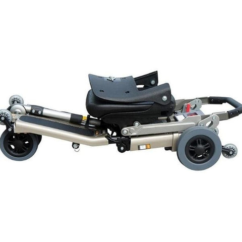 FreeRider USA Luggie Deluxe 4 Wheel Folding Travel Scooter Folding View