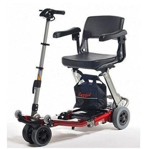 FreeRider USA Luggie Deluxe 4 Wheel Folding Travel Scooter Front View