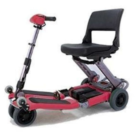 FreeRider USA Luggie Standard 4 Wheel Foldable Travel Scooter Red Left View