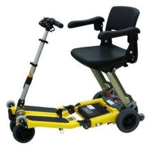 Freerider USA Luggie Super Folding Mobility Scooter Yellow Side View