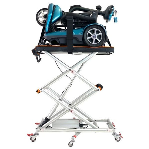 GoLite Portable Mini Mobility Lift Standing with Scooter View