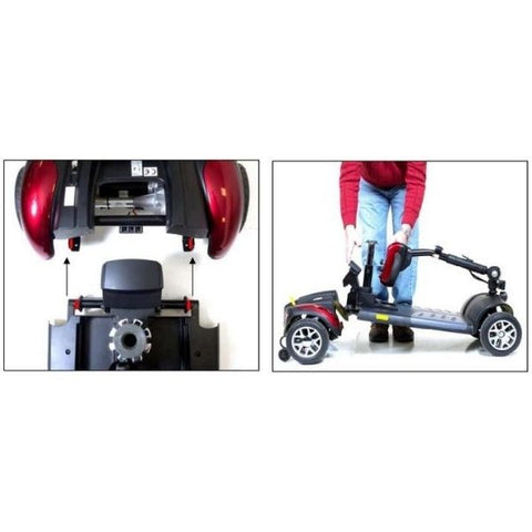 Golden Technologies Buzzaround Extreme 3-Wheel Mobility Scooter GB118D Disassemble and Assemble View