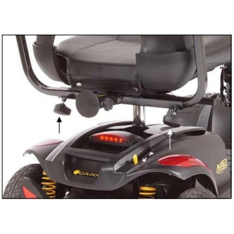 Golden Technologies Buzzaround Extreme 3-Wheel Mobility Scooter GB118D Full Spring Suspension View