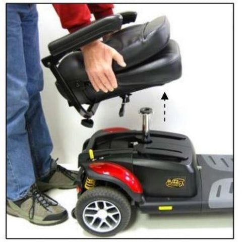 Golden Technologies Buzzaround Extreme 3-Wheel Mobility Scooter GB118D Remove Seat View
