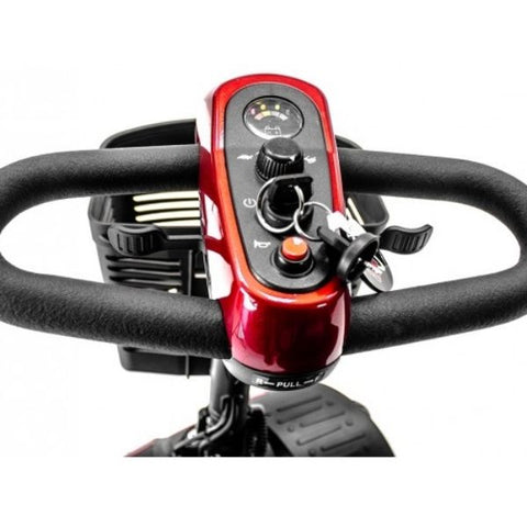 Golden Technologies Buzzaround Extreme 4-Wheel Mobility Scooter GB148D Delta Handlebar View