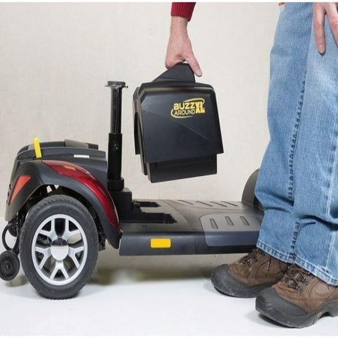 Golden Technologies Buzzaround XL 4-Wheel Mobiliy Scooter GB147D Battery View
