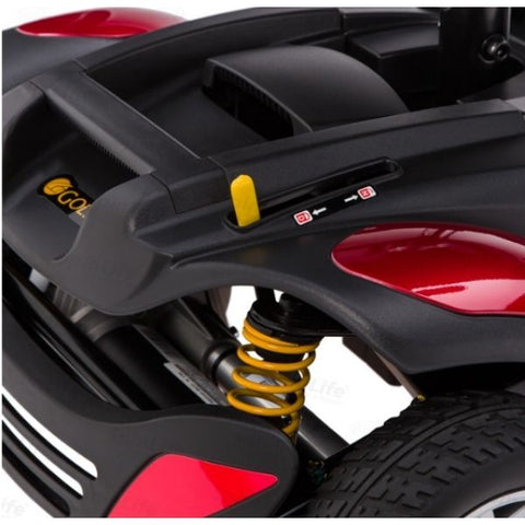 Golden Technologies Buzzaround XLS 3-Wheel Mobility Scooter GB117S Spring Suspension View