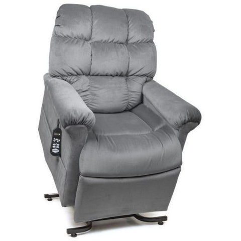 Golden Technologies Cloud Zero Gravity Maxicomfort Lift Chair PR510 Sterling Front View