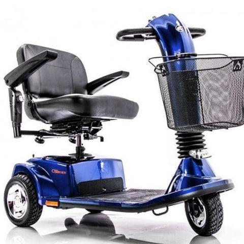 Golden Technologies Companion 3-Wheel Bariatric Scooter GC340D Blue Front View